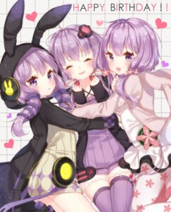 Rating: Safe Score: 66 Tags: animal_ears bunny_ears dress headphones jimmy open_shirt pantyhose sweater thighhighs vocaloid yuzuki_yukari User: Mr_GT