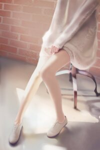 Rating: Questionable Score: 90 Tags: qizhu see_through sweater User: yanis