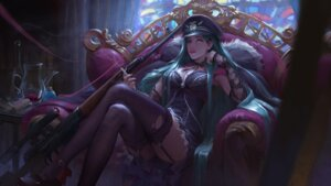 Rating: Safe Score: 41 Tags: chen_hg cleavage gun stockings thighhighs torn_clothes User: Mr_GT