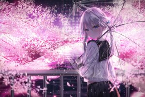 Rating: Safe Score: 93 Tags: junpaku_karen seifuku umbrella User: BattlequeenYume