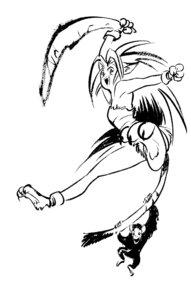 Rating: Safe Score: 2 Tags: animal_ears cham_cham feet leotard monochrome paku_paku samurai_spirits shiroi_eiji sketch snk tail weapon User: Radioactive