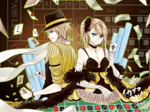 Rating: Safe Score: 10 Tags: cleavage kagamine_len kagamine_rin tsuna2727 vocaloid wallpaper User: charunetra
