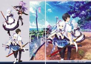 Rating: Questionable Score: 20 Tags: crystalia gap heels kaguya_(kizuna_kirameku_koi_iroha) kizuna_kirameku_koi_iroha kizuna_kirameku_koi_iroha_tsubaki_renka maid pantyhose pero seifuku suzakuin_miyako suzakuin_tsubaki sword thighhighs usume_shirou User: Twinsenzw