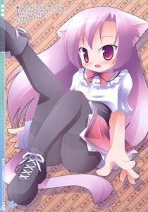 Rating: Safe Score: 14 Tags: animal_ears kagura_yuuki nekomimi nopan pantyhose waitress User: bunnygirl