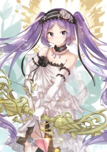 Rating: Safe Score: 36 Tags: cleavage dress euryale fate/grand_order garter holmemee weapon User: Mr_GT