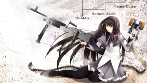 Rating: Safe Score: 10 Tags: akemi_homura garakuta gun pantyhose puella_magi_madoka_magica wallpaper User: charunetra