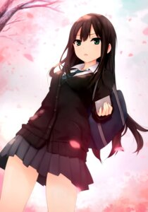 Rating: Safe Score: 63 Tags: coffee-kizoku jpeg_artifacts seifuku shibuya_rin the_idolm@ster User: donicila