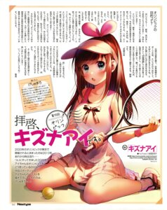 Rating: Safe Score: 13 Tags: a.i._channel geshumaru kizuna_ai tennis User: drop