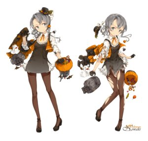 Rating: Safe Score: 31 Tags: cleavage dress halloween heels kantai_collection malachite nowaki_(kancolle) pantyhose torn_clothes User: Mr_GT