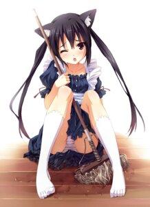 Rating: Questionable Score: 104 Tags: animal_ears k-on! maid nakano_azusa nekomimi pantsu senji shimapan User: blooregardo