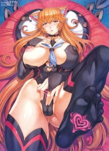 Rating: Questionable Score: 23 Tags: animal_ears breast_hold breasts cameltoe erect_nipples feet leotard mogudan nipples no_bra tagme thighhighs User: john.doe