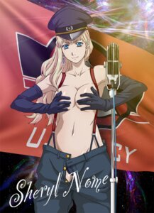 Rating: Questionable Score: 31 Tags: breast_hold cleavage jpeg_artifacts macross macross_frontier pantsu sheryl_nome tooo topless User: apocalypse081