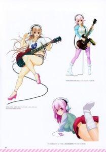 Rating: Safe Score: 6 Tags: bleed_through guitar headphones scanning_dust sonico super_sonico tsuji_santa User: kiyoe