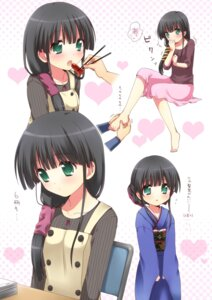 Rating: Safe Score: 21 Tags: comic_party feet hasebe_aya kimono mani User: charunetra