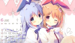 Rating: Safe Score: 14 Tags: calendar gochuumon_wa_usagi_desu_ka? hoto_cocoa kafuu_chino seifuku shiratama shiratamaco sweater User: Radioactive