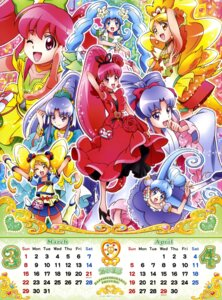 Rating: Safe Score: 11 Tags: aino_megumi calendar dress happiness_charge_precure! heels hikawa_iona oomori_yuuko pretty_cure satou_masayuki shirayuki_hime_(precure) User: drop