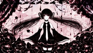 Rating: Safe Score: 19 Tags: hatsune_miku mirimo monochrome thighhighs vocaloid User: demon2