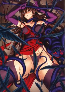 Rating: Questionable Score: 35 Tags: bondage dress erect_nipples funikura garter_belt kuroki_masahiro lingerie nyx pantsu queen's_blade skirt_lift stockings tentacles thighhighs torn_clothes wet User: Radioactive