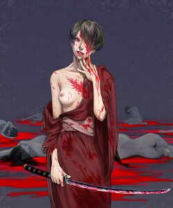 Rating: Questionable Score: 15 Tags: albr blood breasts guro nipples sword User: Radioactive