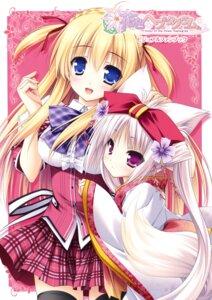 Rating: Questionable Score: 50 Tags: animal_ears hanairo_heptagram kimono kitsune lump_of_sugar miyuri moekibara_fumitake seifuku tail tamami_koishikawa User: Twinsenzw