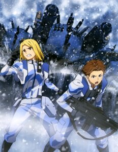 Rating: Safe Score: 20 Tags: gun havia_winchell heavy_object mecha qwenthur_barbotage tagme uniform User: drop