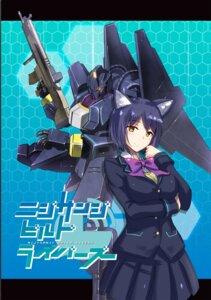 Rating: Safe Score: 6 Tags: animal_ears breast_hold gun mecha nijisanji seifuku shizuka_rin tagme User: hiroimo2