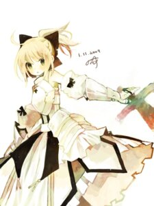 Rating: Safe Score: 19 Tags: fate/stay_night fate/unlimited_codes kashiwaba_hisano saber saber_lily User: Nekotsúh