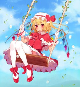 Rating: Safe Score: 18 Tags: flandre_scarlet heels misoni_comi thighhighs touhou wings User: Mr_GT