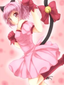 Rating: Safe Score: 19 Tags: animal_ears momomiya_ichigo nekomimi punchiki tail tokyo_mew_mew User: demon2