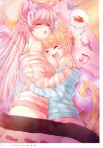 Rating: Safe Score: 25 Tags: animal_ears nekomimi no_bra pajama tagme tail yuri User: kiyoe