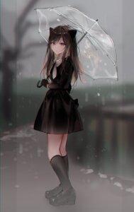 Rating: Safe Score: 18 Tags: animal_ears cbi_cbi dress heels nekomimi tagme umbrella User: Dreista