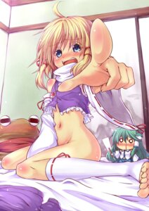 Rating: Questionable Score: 42 Tags: bottomless kochiya_sanae loli moriya_suwako oukawa_yuu touhou User: nophone