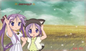Rating: Safe Score: 10 Tags: animal_ears dress hiiragi_kagami hiiragi_tsukasa kanmpanella lucky_star nekomimi tail User: Chris086