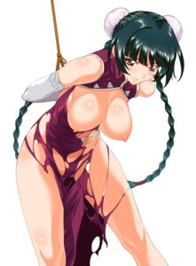 Rating: Questionable Score: 99 Tags: a1 bondage breasts chinadress gundam gundam_00 initial-g nipples no_bra nopan torn_clothes wang_liu_mei User: Radioactive
