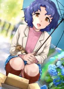 Rating: Questionable Score: 11 Tags: hanamasa_ono neko pantsu skirt_lift sweater the_idolm@ster the_idolm@ster_million_live! toyokawa_fuuka umbrella User: yanis