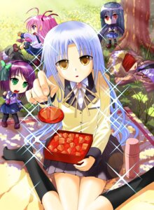 Rating: Safe Score: 26 Tags: angel_beats! chibi hinata_(angel_beats!) pocky_(hidamarinet) seifuku shiina tail tenshi thighhighs tk_(angel_beats!) yui_(angel_beats!) yurippe User: Riven
