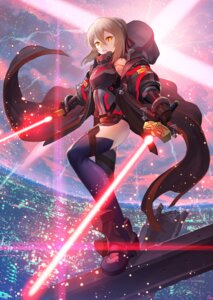 Rating: Safe Score: 28 Tags: armor fate/grand_order heroine_x_alter nakamura_eito sword thighhighs User: Mr_GT