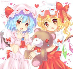 Rating: Safe Score: 29 Tags: flandre_scarlet ramudia_(lamyun) remilia_scarlet touhou wings User: aaayu