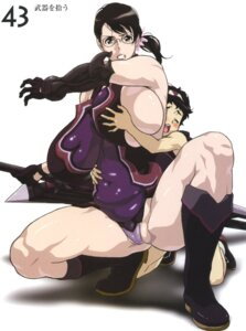 Rating: Questionable Score: 9 Tags: breast_grab cattleya dress kaneko_hiraku megane pantsu queen's_blade rana sword User: HSkeleton