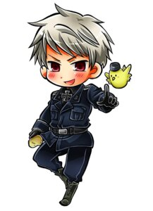 Rating: Safe Score: 5 Tags: chibi hajime_(kaniku) hetalia_axis_powers male prussia uniform User: Amperrior