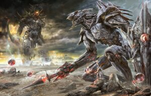 Rating: Safe Score: 34 Tags: landscape male mecha monster noa_(makarori01) weapon User: blooregardo