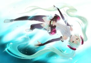 Rating: Safe Score: 16 Tags: hatsune_miku miku_append shirokichi thighhighs vocaloid vocaloid_append User: eridani