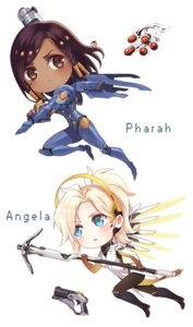 Rating: Safe Score: 11 Tags: bodysuit gun mercy_(overwatch) overwatch pantyhose pharah tattoo weapon wings yuhuan User: charunetra