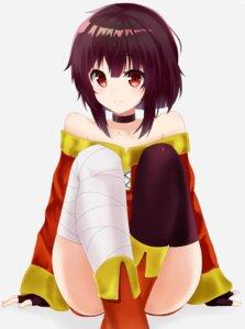 Rating: Questionable Score: 20 Tags: bandages kono_subarashii_sekai_ni_shukufuku_wo! megumin raku_rakugaki thighhighs User: yanis