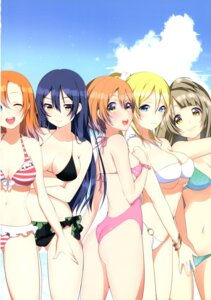 Rating: Safe Score: 24 Tags: ass bikini breast_hold cleavage love_live! matarou swimsuits underboob User: NotRadioactiveHonest
