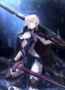 Rating: Safe Score: 57 Tags: akamiso cleavage dress fate/grand_order fate/stay_night saber saber_alter sword thighhighs User: Nepcoheart