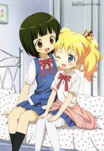 Rating: Safe Score: 40 Tags: alice_cartelet kin'iro_mosaic oomiya_shinobu seifuku thighhighs yokomatsu_yuuma User: drop