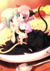 Rating: Safe Score: 39 Tags: animal_ears heterochromia nekomimi shouna_mitsuishi tail waitress User: blooregardo