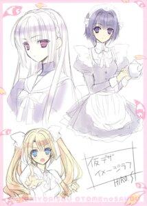 Rating: Safe Score: 16 Tags: kokura_asahi maid sakurakouji_luna sketch suzuhira_hiro trap tsuki_ni_yorisou_otome_no_sahou ursule_fleur_jeanmarie User: Hatsukoi