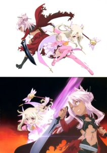 Rating: Safe Score: 31 Tags: chloe_von_einzbern fate/kaleid_liner_prisma_illya fate/stay_night heels illyasviel_von_einzbern sword thighhighs weapon User: drop
